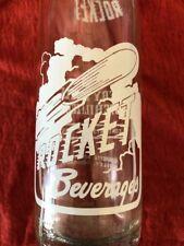 VINTAGE Rocket Beverages Painted Label Pop Soda Bottle GRAPETTE Bottling