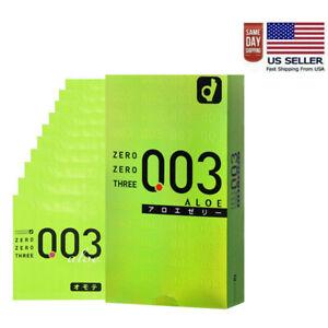 Okamoto 003 Aloe Jelly Thin Condoms(10PCS) - 0.03mm - Made In Japan(US Seller)
