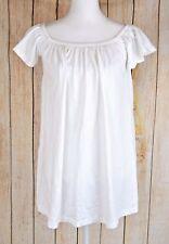 Asos Women's Elastic Boat Neck Knit Top Blouse Tee Short Sleeve White US Size 0