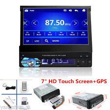 "7"" 1Din HD Touch Screen Car Audio MP5 Player Radio FM Bluetooth+ GPS Navigation"