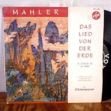 Otto Klemperer Mahler Das Lied Von Der Erde LP Vox rare France mono M-