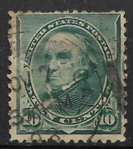 US, used, #226, 10ct Daniel Webster, Issued 1890, CV = $4.25