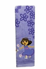 DORA THE EXPLORER FLORAL PURPLE EMBROIDERED HAND TOWEL