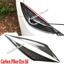 For Mazda 3 Axela 17-19 Carbon Fiber Headlight Eyebrow Eyelids Cover Trim Decor