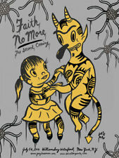 FAITH NO MORE New York 2010 silkscreened poster (grey) by Gary Baseman