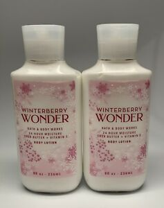 Bath & Body Works Winterberry Wonder 24hr Moisture Body Lotion 8 oz. 2 PACK