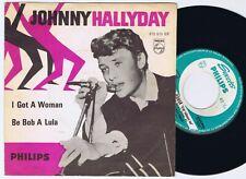 "JOHNNY HALLYDAY I Got A Woman / Be Bob A Lula Danish 7"" 45PS 1962."