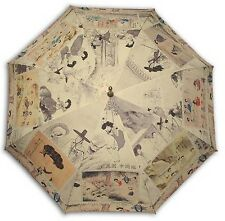 Korea traditional painting long size automatic umbrella