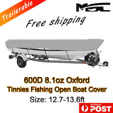 MSC 12.7-13.6ft 600D Marine Styled to fit Tinnies fishing boat cover grey