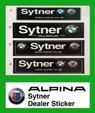 internal window sticker Sytner ALPINA BMW E38 B10V8S E36 E39 B3 E30 Decal Dealer