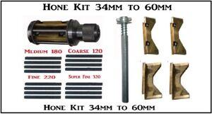 MOTORZYLINDER Honwerkzeug 34mm - 60 mm Zylinder Motor + 4  Honen Steine satz