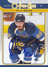 BRAD BOYES BLUES AUTOGRAPH AUTO 09/10 O-PEE-CHEE OPC #130 *25396