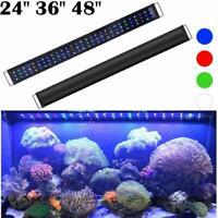 """LED Aquarium Light Multi-Color Full Spectrum Fish Tank Plant Marine 24"""" 36"""" 48"""""""
