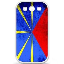Coque housse étui tpu gel motif drapeau La Réunion Samsung Galaxy S3 i9300