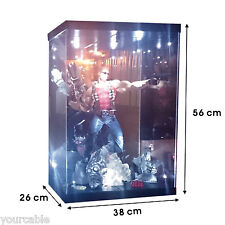 "Acrylic Case Light Box for 18"" 46cm 1/4 Scale Hot Toys Batman NECA Joker Figure"