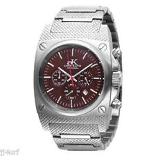 Handsome Adee Kaye Men's AK8020-MB MRN Men's Brown Chronograph Stainless Steel