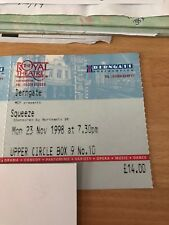 Used  Squeeze Tickets 1998