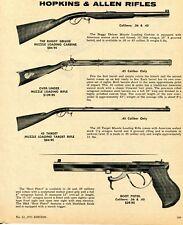 1971 Print Ad of Hopkins & Allen Buggy Deluxe O&U 45 Target Rifle & Boot Pistol