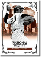 50) REGGIE JACKSON.- 2013 Leaf National Convention PROMOTIONAL Baseball Card LOT