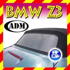 BMW Z3 CABRIOLET lunette arrière teint noir avec fermeture à glissière neuf,