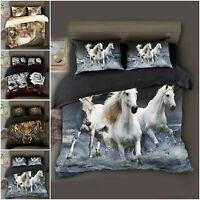Animal Duvet Quilt Cover 3D Bedding Set + Fitted Sheet & Pillowcase All UK Size