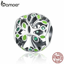 BAMOER S925 Sterling Silve Charm Tree for life Bead With CZ Fit bracelet Jewelry
