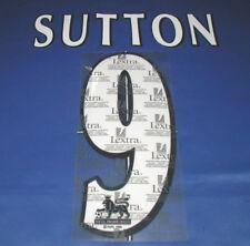 Lextra 97-06 Blackburn Chelsea  ' SUTTON 9  '  EPL Player Issue Shirt Name Set