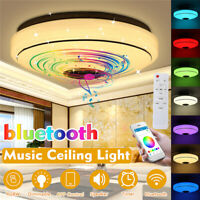 80W 108LED Ceiling Light RGB bluetooth Music Speaker Dimmable APP Remote