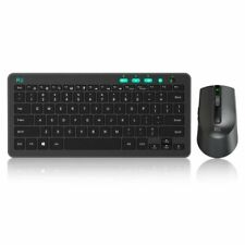 (2018 Rii Rkm709 2.4Ghz Ultra-Slim Wireless Keyboard And Mouse Combo Multimedia