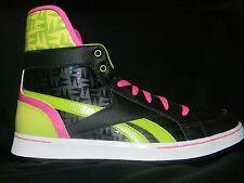NIB Reebok SL Flip Sneakers Shoes Boots Black/Pink/Green/ Yellow Girls 6Y