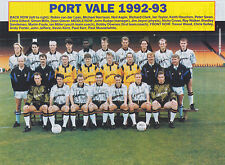 PORT VALE FOOTBALL TEAM PHOTO>1992-93 SEASON