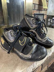 2007 Nike Zoom Lebron Soldier 1 Black Gold 316643-001 Basketball Mens Size 10.5