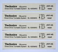 5 x Technics SL1200 mk5 decal sticker self adhesive transparent - Printed BLACK
