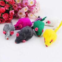 Fur False Mouse Pet Kitten Cat Toy Mini Funny Playing Toys 5CM Random G2C9