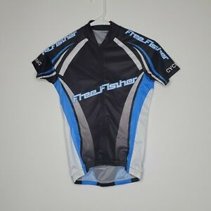 Free Fisher Boys Youth Size XL Cycling Short Sleeve Full Zip Jersey