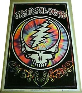 """GRATEFUL DEAD """"STEAL YOUR SKULL""""  BLACKLIGHT POSTER -VERY RARE -23X35 #1916-NEW"""