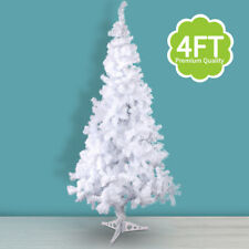 4' Feet Tall Christmas Tree With Stand Holiday Season Indoor Outdoor White