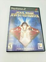 Star Wars Jeni Starfighter (Sony Playstation 2, 2002) Free Shipping Complete