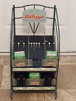 RARE Vintage Kellogg's Cereal Box Store Display Advertising Diner