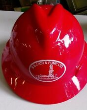 Msa V-Gard Full Brim B&J Air & Pump Hard Hat - Fas-Trac Suspension - Red