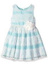 Brand New Youngland Little Girls' Lace Occasion Dress Turquoise Blue Size 4
