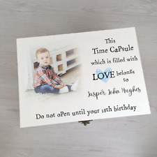 Personalised Time Capsule Memory Box Printed With Your Own Photo