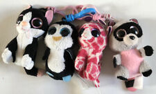 Beanie Boo Keychain Lot Of 4 Waddles Twigs Rocco Cat
