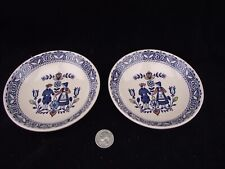 """2  HEARTS AND FLOWERS JOHNSON BROTHERS OLD GRANITE DESSERT NAPPIE 5 1/4""""  BOWLS"""