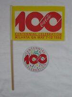 Coca-Cola Centennial Celebration Flag and Pin Set - NEW  FREE SHIPPING