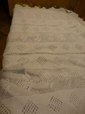 neuf !!artisanal crocheté main housse édredon oucouette 1,39x0,90coton art-déco