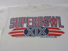 SUPERBOWL - VINTAGE SUPERBOWL XIX - LS T-SHIRT - STANFORD, STADIUM - SF vs MIA.