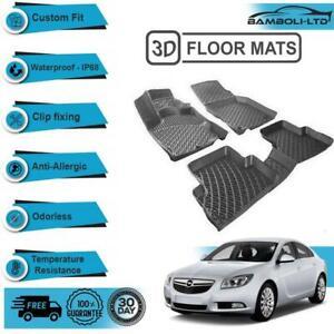 3D Molded Interior Car Floor Mat for Opel Insignia 2008-2016(Black)