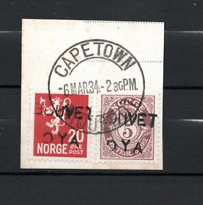 Norway 1934 Bouvet Island Overprint RARE USED