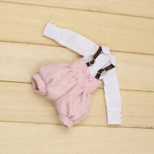 "Takara 12"" Blythe Azone Doll Outfits pink Bib & white shirt new hot sale 2016"